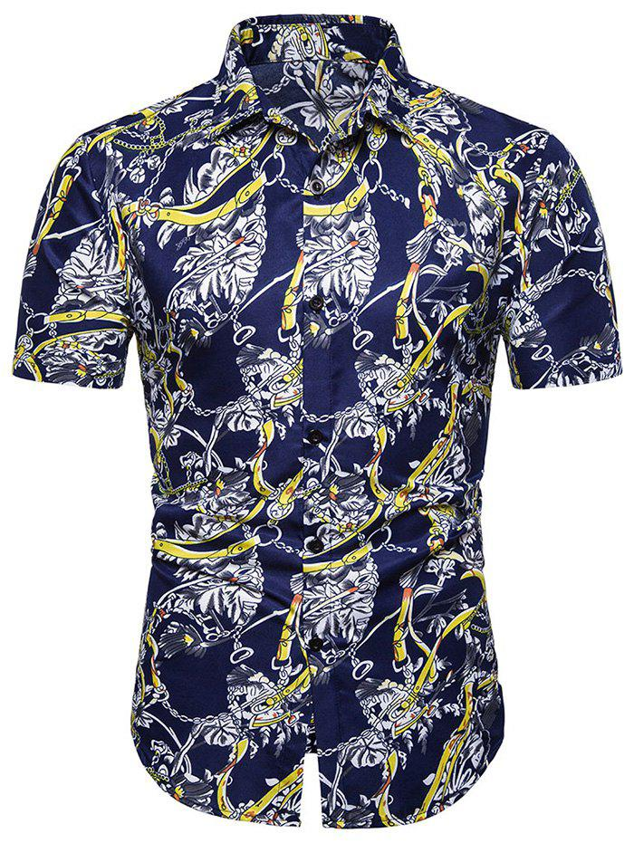 Hot Printed Decoration Short Sleeves Shirt
