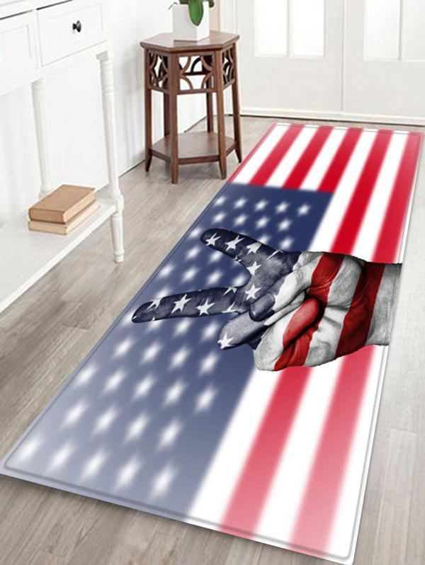 American Flag Gesture Pattern Water Absorption Area Rug