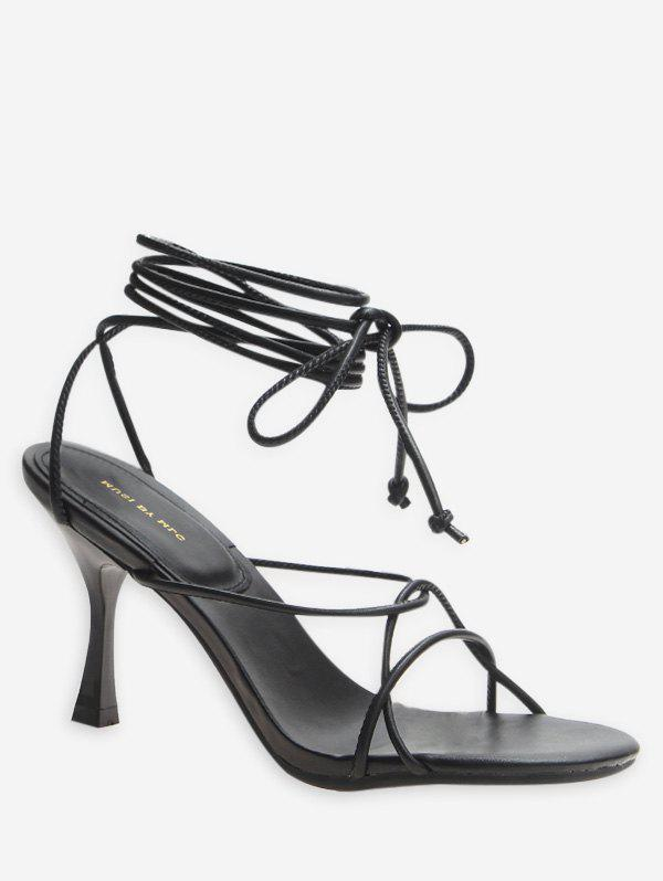 Discount Lace Up Strappy High Heel Sandals