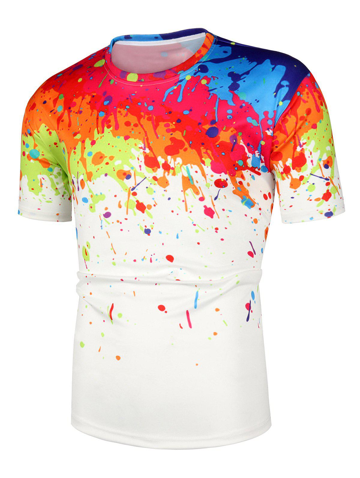 Store Painting Printed Short Sleeves Casual T-shirt