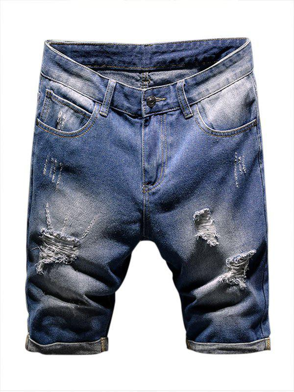 Cheap Casual Destroy Ripped Jean Shorts