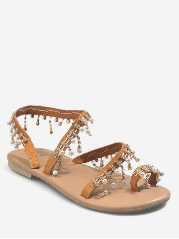 Summer Bohemia Style Rhinestone Decorated Sandals