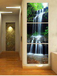 Forest Waterfall Printed Unframed Split Canvas Paintings -