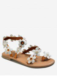 Flower Pattern Summer Casual Sandals -