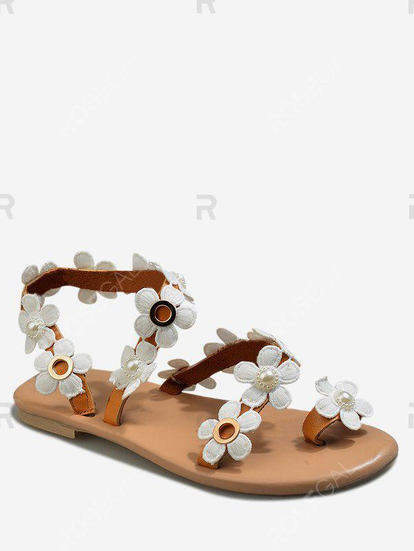 Affordable Flower Pattern Summer Casual Sandals