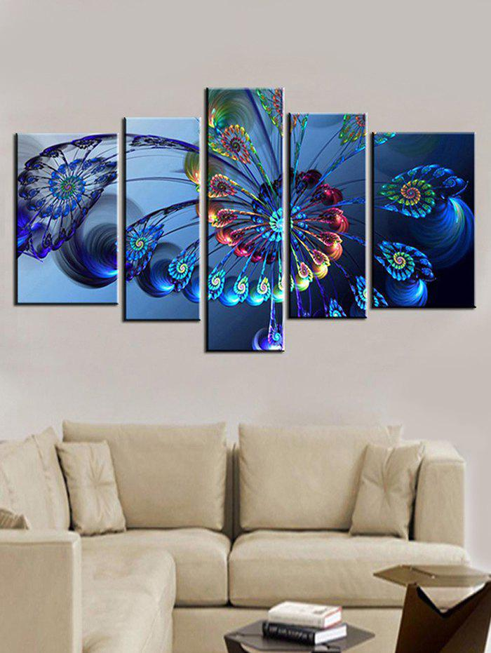 Abstract Butterfly Print Unframed Split Canvas Paintings