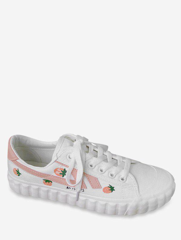 Latest Sweet Strawberry Canvas Shoes