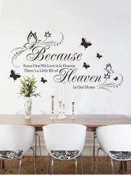 Because Butterfly Pattern Wall Stickers -