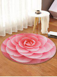 Flower Design Round Floor Mat -