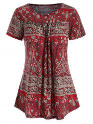 Floral Short Sleeve Tunic T-shirt -