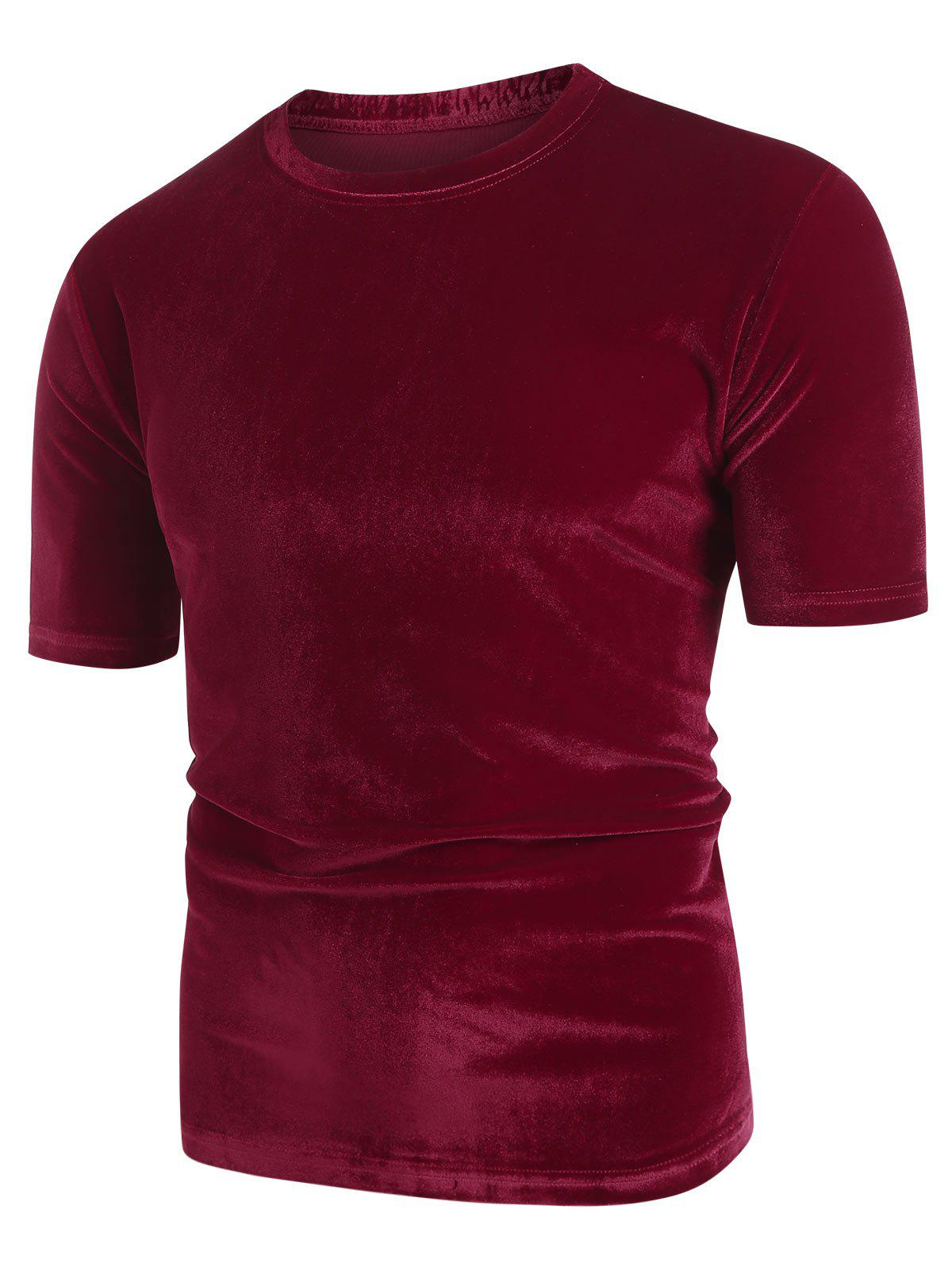 Shops Solid Color Round Neck Short Sleeves T-shirt
