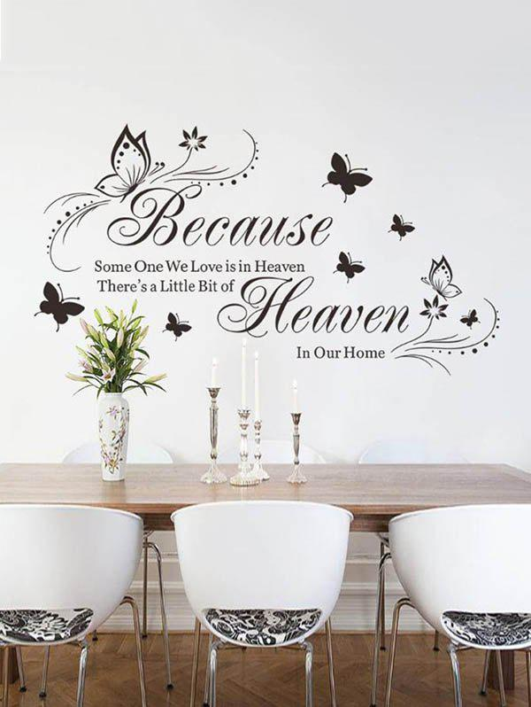 Store Because Butterfly Pattern Wall Stickers