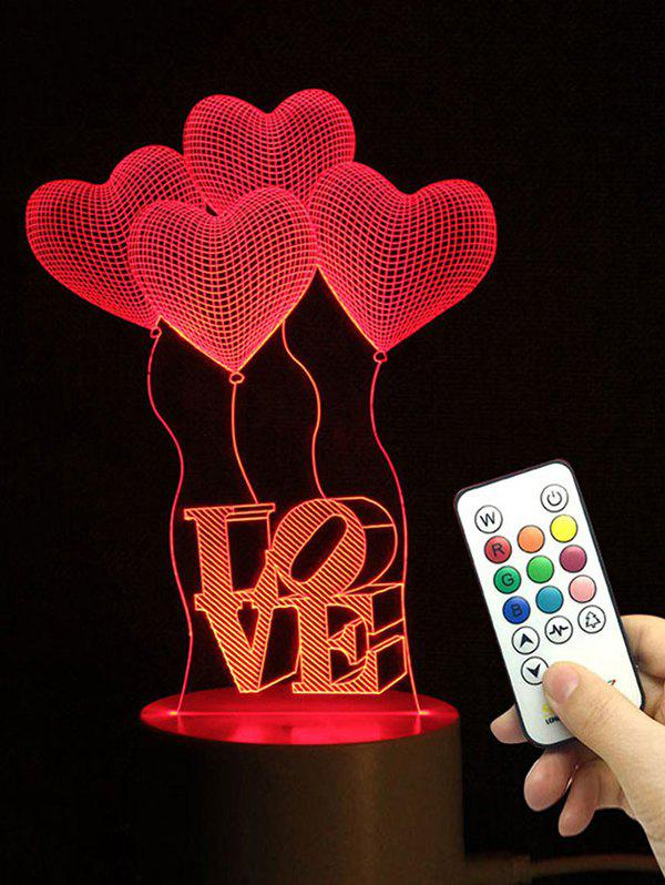 Heart Balloon Love Shape Color Changing LED Night Light