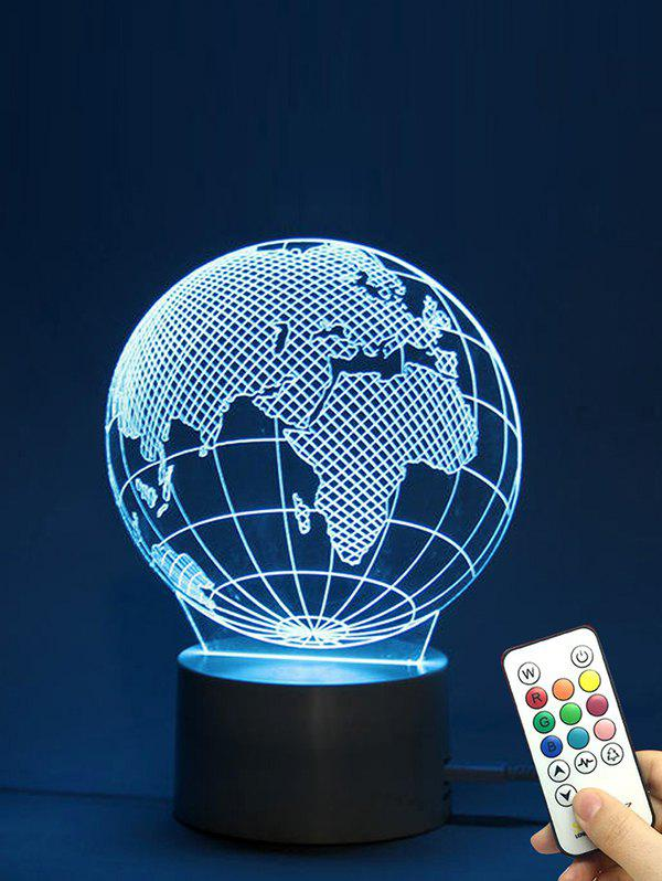 Fashion The Earth Shape Color Changing LED Night Light