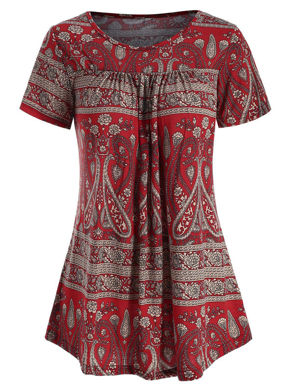 Buy Floral Short Sleeve Tunic T-shirt