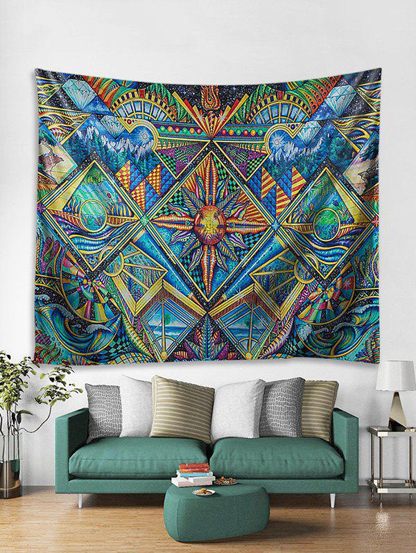 3D Abstract Pattern Print Wall Tapestry