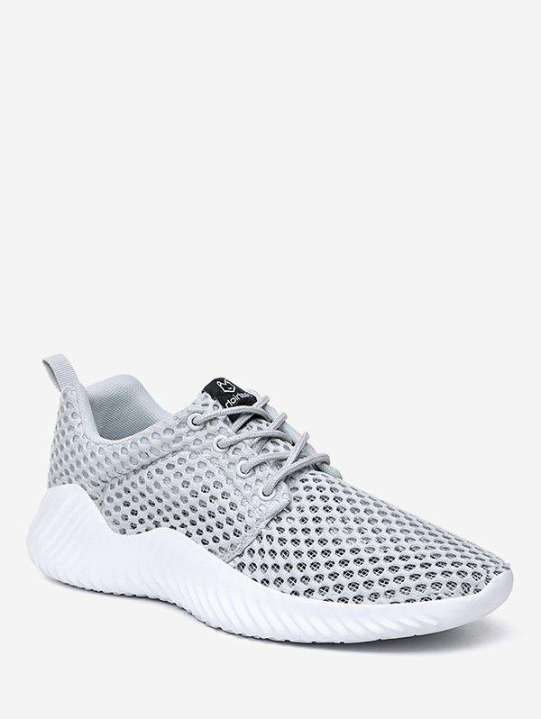 Fancy Sheer Mesh Breathable Running Sneakers