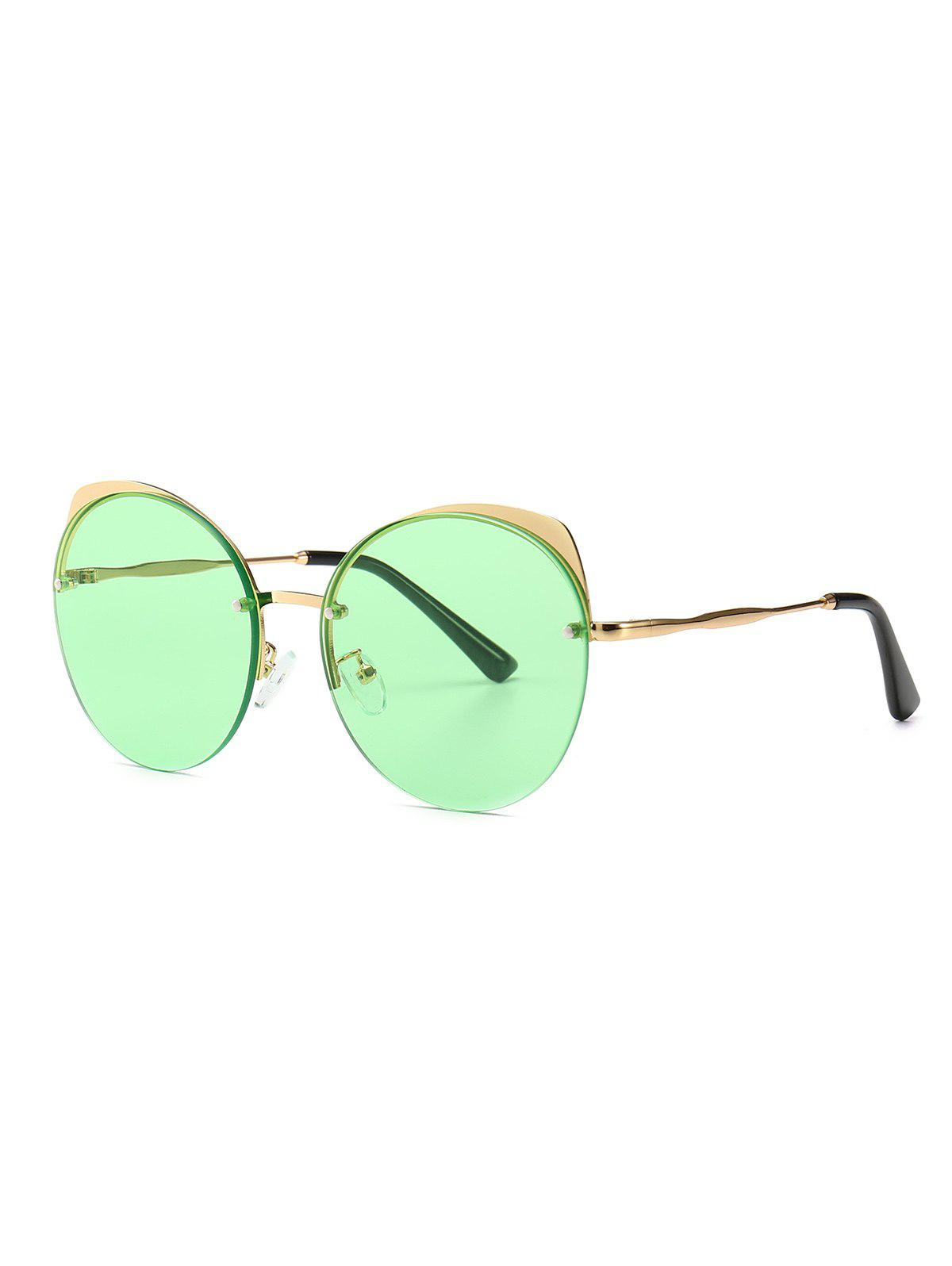 Hot Semi-rimless Round Catty Eye Sunglasses