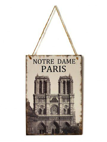 Notre Dame Paris Pattern Wall Decor Wooden Hanging Sign