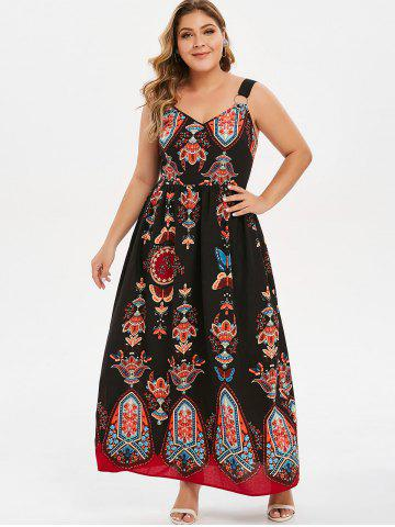Plus Size Graphic Ring Embellished Dress