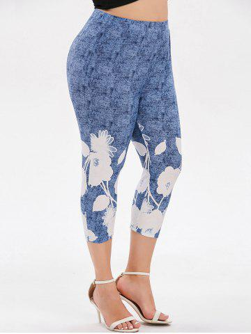 6058e7846f7 Plus Size Space Dye Capri Leggings