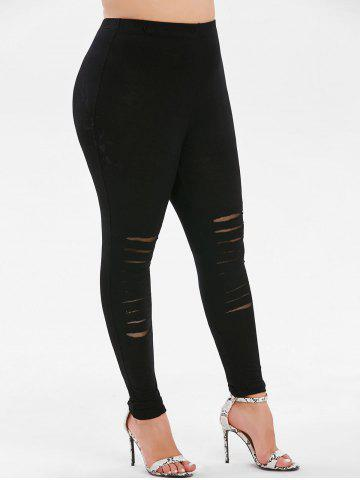 55f9d6a4358707 Black Ripped Leggings - Free Shipping, Discount And Cheap Sale | Rosegal