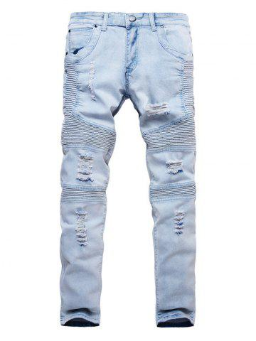 Ripped Design Casual Style Jeans