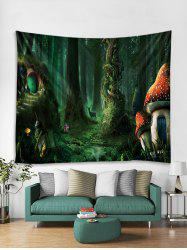 Fairy Tale Forest Printed Wall Tapestry -