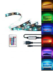 USB RGB Strip Light with Remote Control for TV Computer Background Lighting -
