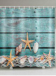 Starfish Seashell Pattern Shower Curtain -