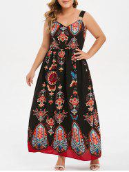 Plus Size Graphic Ring Embellished Dress -