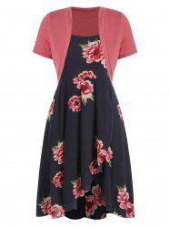 Plus Size High Low Dress with Crop T Shirt -