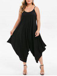 Plus Size Cropped Baggy Jumpsuit -