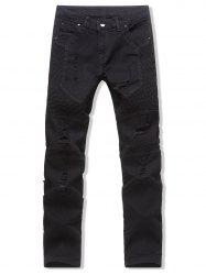 Leisure Style Destroy Design Jeans -