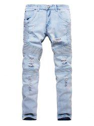 Ripped Design Casual Style Jeans -