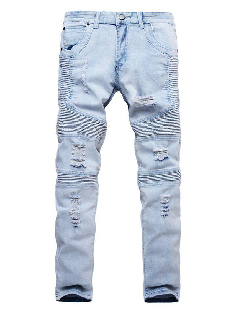 New Ripped Design Casual Style Jeans