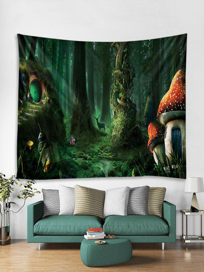 Unique Fairy Tale Forest Printed Wall Tapestry