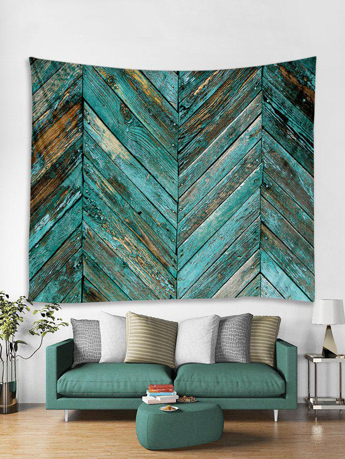 Chic Old Plank Wall Print Art Decoration Wall Tapestry