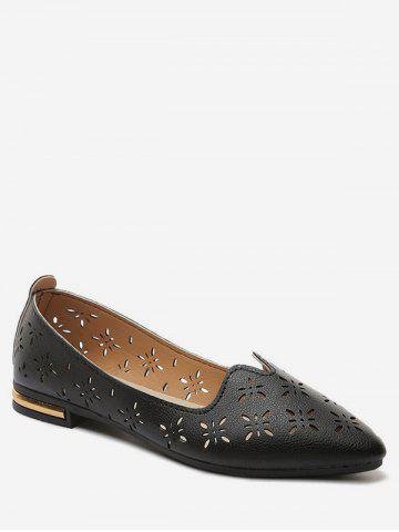 Hollow Out Pointed Toe Flats