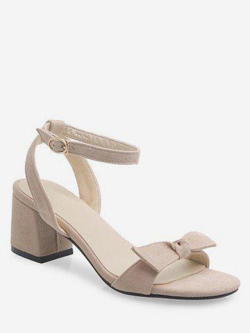 Sweet Bow Ankle Strap Sandals