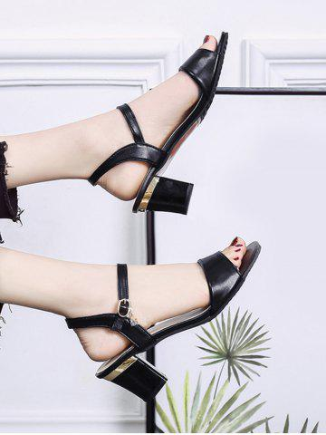 Solid Color High Heel Sandals