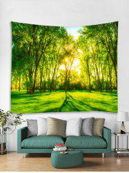 Forest Sunshine 3D Print Wall Tapestry -