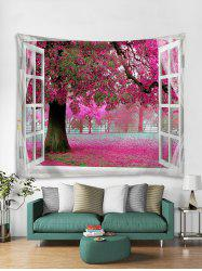 Flower Trees Print Art Decoration Wall Tapestry -