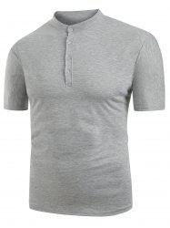 Solid Color Design Casual Short Sleeves T-shirt -