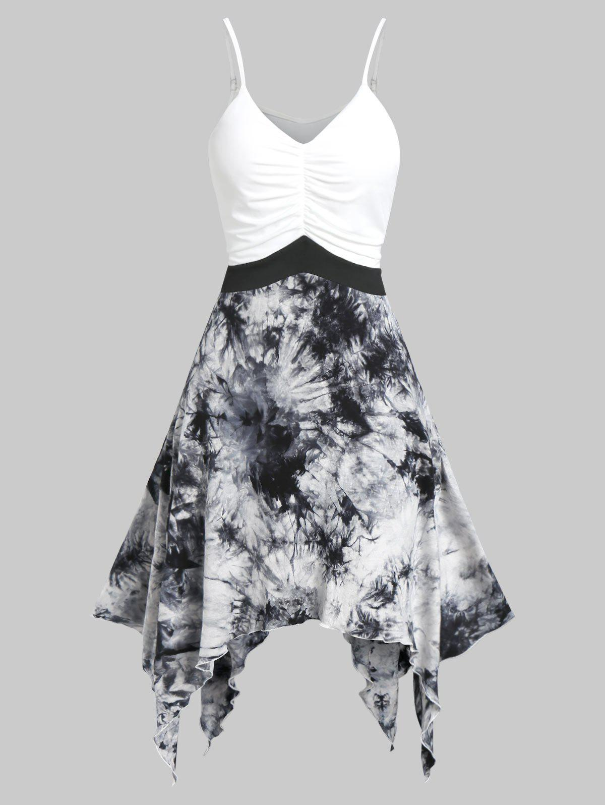Cami Asymmetrical Ink Print Dress