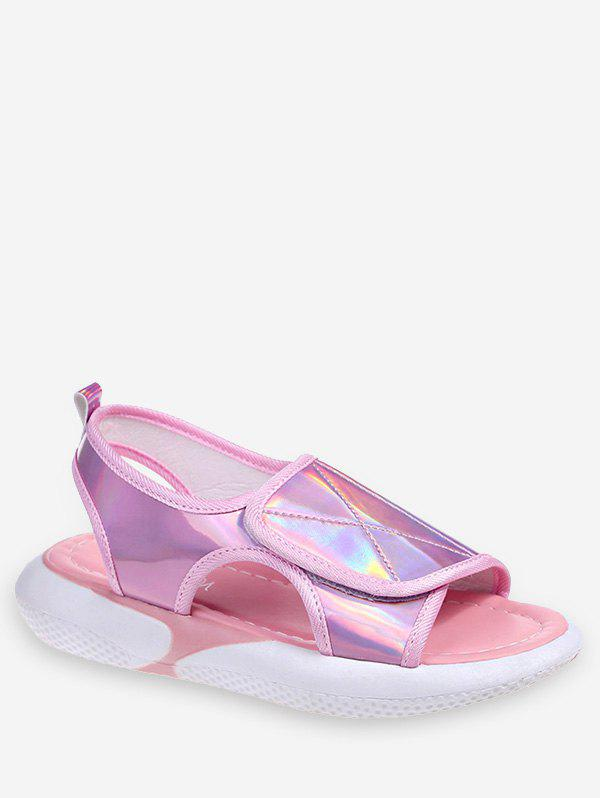 Chic Holographic Hook Loop Sandals