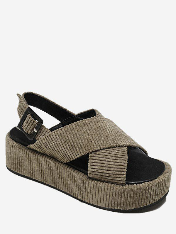Affordable Cross Strap Flat Platform Sandals