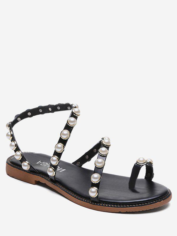 New Beaded Strap Slip On Sandals