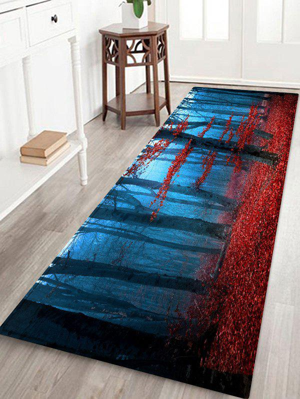 Mist Maple Forest Pattern Flannel Water Absorption Area Rug