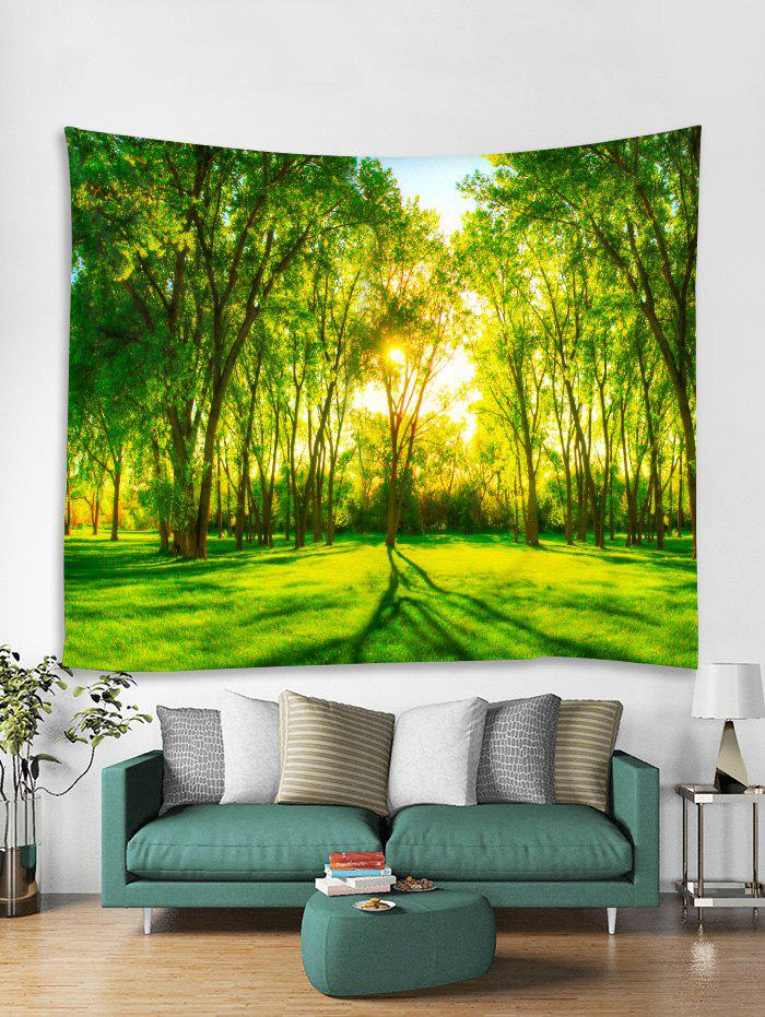 Shop Forest Sunshine 3D Print Wall Tapestry